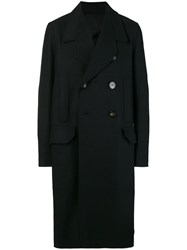Rick Owens Officer Double Breasted Coat Black