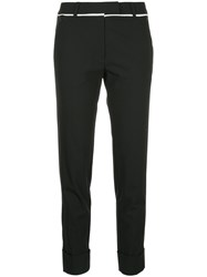 Taylor Slim Fit Cropped Trousers Black