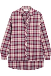 The Great Big Checked Cotton Shirt Claret