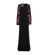 Emilio Pucci Bamboo Sleeve Long Kaftan Female Black