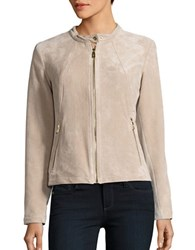 Ivanka Trump Long Sleeve Suede Jacket