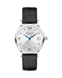 Montblanc Star Classique Date Automatic Watch 34Mm Silver Black