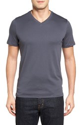Robert Barakett Men's Georgia V Neck T Shirt Cool Grey
