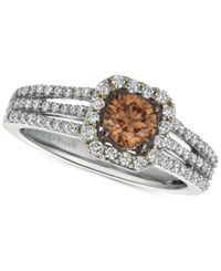 Le Vian Chocolate And Nude Diamond Ring 3 4 Ct. T.W. In 14K White Gold