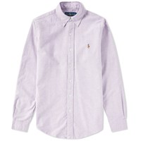 Polo Ralph Lauren Slim Fit Button Down Oxford Shirt Purple