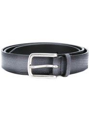 Orciani Crocodile Effect Belt Men Leather 95 Grey