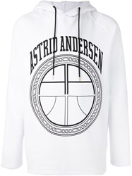 Astrid Andersen 'Carry On' Hoodie White