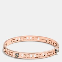 Coach Daisy Rivet Pierced Kissing C Bangle Rosegold