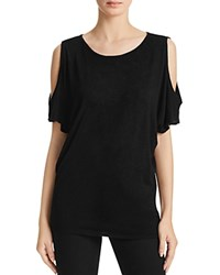 Velvet By Graham And Spencer Cold Shoulder Tee Black