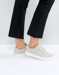 Asos Dolcetto Lace Up Trainers Grey