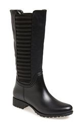 Dav 'Lexington' Tall Waterproof Rain Boot Women Black