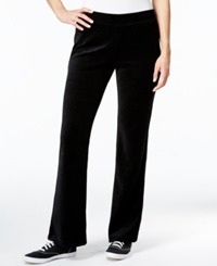Style And Co. Sport Embellished Pockets Velour Sweatpants Only At Macy's