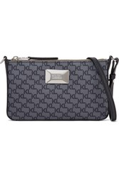 Karl Lagerfeld Printed Textured Pvc Shoulder Bag Anthracite