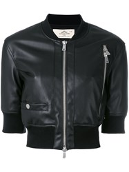 Urbancode Cropped Bomber Jacket Black