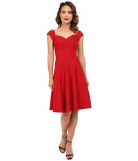 Stop Staring Madstyle Classic Swing Skirt Dress Red Women's Dress