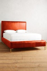 Anthropologie Premium Leather Edlyn Bed Coral