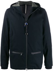 Low Brand Hooded Front Zip Jacket Blue