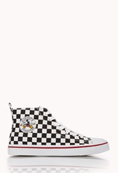 Forever 21 Checkered Mickey High Tops