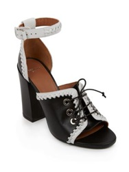 Givenchy Lace Up Leather Sandals Black White