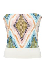Barrie Bustier Cashmere Top Multi