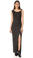 The Hours Twisted Strap Maxi Dress Charcoal