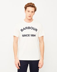 Barbour Tiverton T Shirt Off White