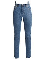 Vetements X Levi's Reworked High Rise Jeans Blue