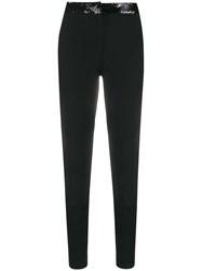 Frankie Morello Sequin Embellished Slim Fit Trousers 60