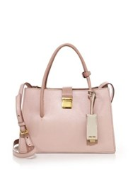 Miu Miu Madras Small Leather Satchel Orchidea Gemma Bianco Granito