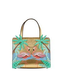 Kate Spade By The Pool Flamingo Scene Small Sam Satchel Bag Multi