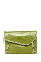 Hobo Daria Convertible Leather Crossbody Clutch Green