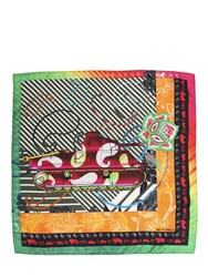Etro Tank Printed Silk Satin Pocket Square