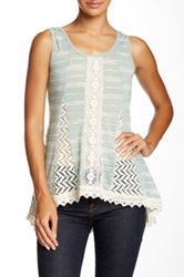Ryu Crochet Sleeveless Blouse Green