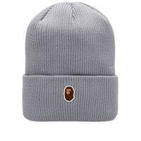 A Bathing Ape One Point Knit Cap Grey
