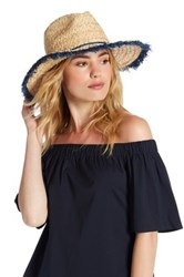 Vince Camuto Pop Fray Hat Blue