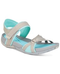Bare Traps Sonya Flat Sandals Women's Shoes Ash Aqua