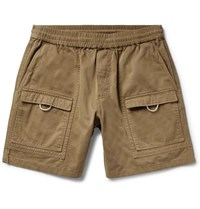 Acne Studios Rosso Wide Leg Cotton Twill Cargo Shorts Army Green