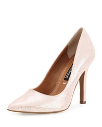 Kay Unger Aileen Pointed Toe Leather Pump Powder Pink