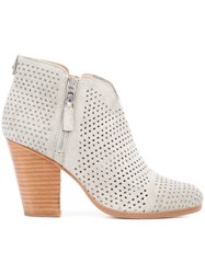 Rag And Bone Perforated Decoration Ankle Boots Grey