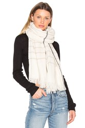 Rag And Bone Window Pane Check Scarf Ivory