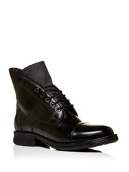 Moda In Pelle Ulm Lace Up Military Style Boots Black