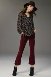 Anthropologie Pilcro Stet Cropped Flare Cords Wine 31 Pants