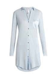 Hanro Grand Central Jersey Nightdress Light Blue