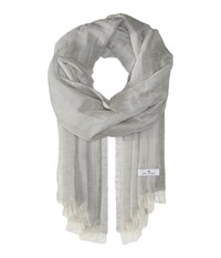 Love Quotes Linen Cotton Solid Stone Scarves White