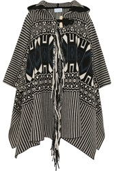 Chloe Wool And Cashmere Blend Jacquard Cape
