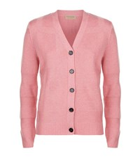 Burberry Check Effect Cardigan Female Pink