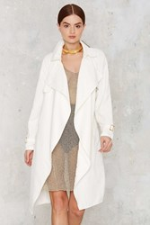 Nasty Gal Trench Warmer Belted Coat White