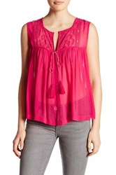 Plenty By Tracy Reese Convertible Blouse Red