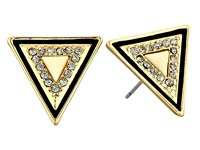 House Of Harlow Teepee Triangle Studs Gold Tone Ivory Earring