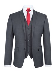 Lambretta Men's Slim Fit Three Piece Suit Blue